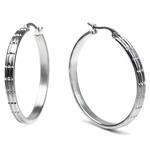 316L Stainless Steel Round Big Hoop Earring-1
