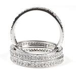 3 piece Stackable CZ Eternity Micro Pave Silver