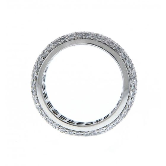 eternity micro pave silver all around band