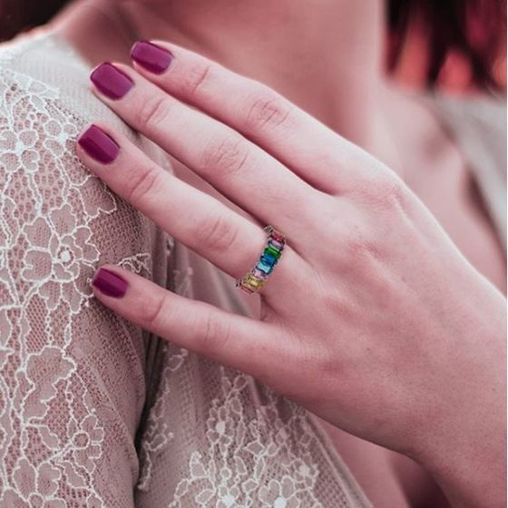 multicolor Band Ring