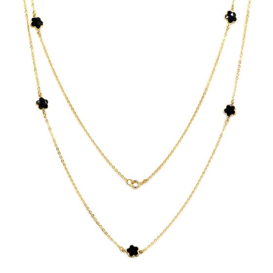 Onyx station necklace for layering