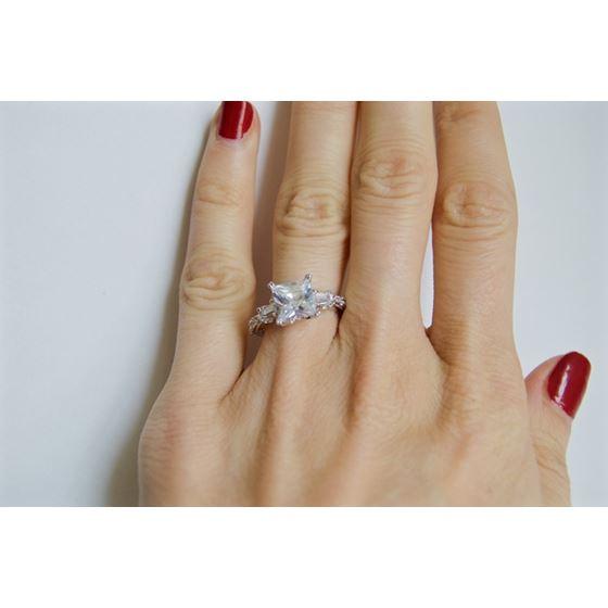3 stone vintage engagement ring