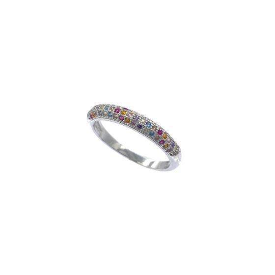 Rainbow Semi Eternity Ring