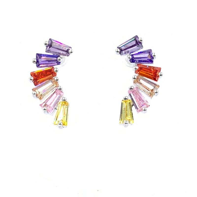 Multi Color Earrings with Cubic Zirconia Earrings