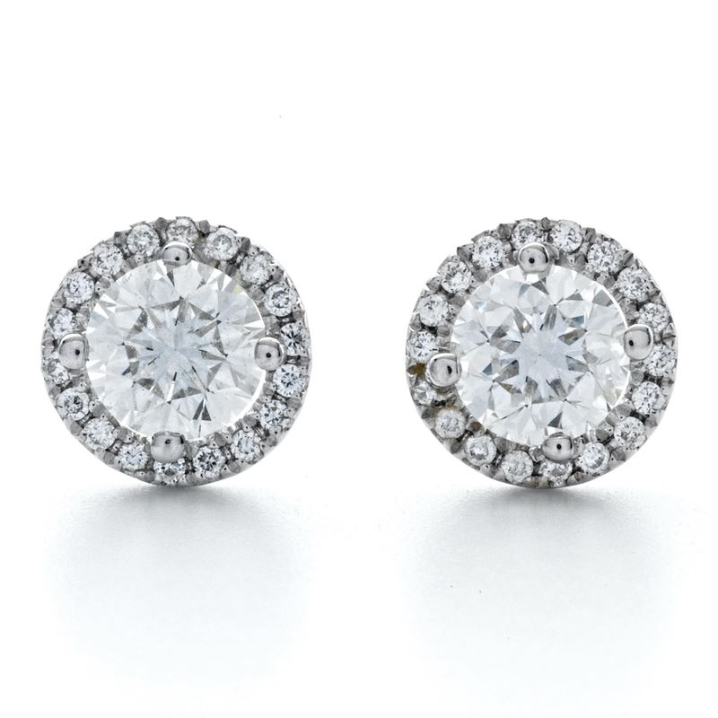 4ctw Sterling Silver Round Cut Cubic Zirconia Halo