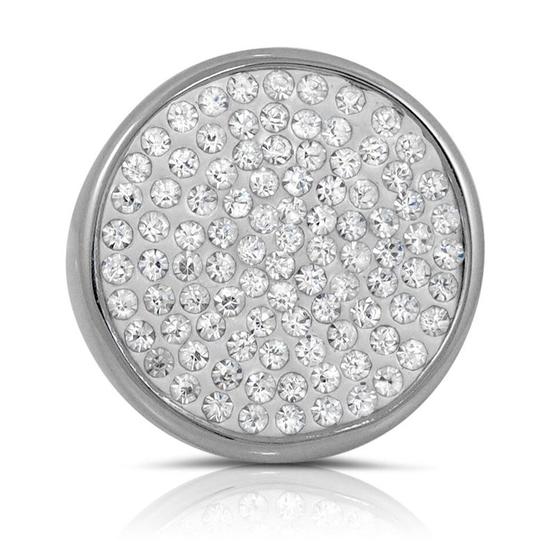 Stainless Steel Pave Set Cubic Zirconia Big Chunky